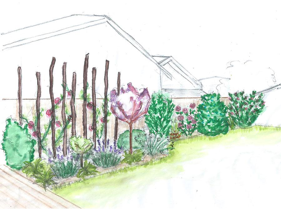 Redéfinition des volumes d'un jardin de ville au Bouscat